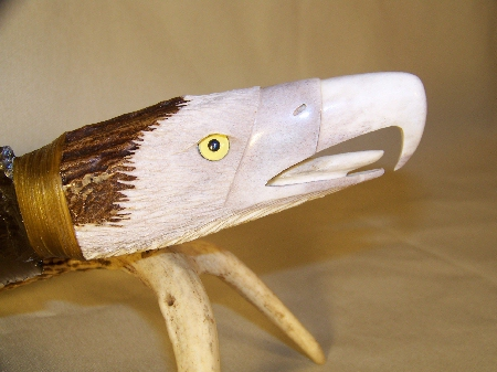 carved antler knife